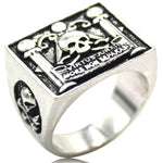 VIRTUS JUNXIT MORS NON SEPARABIT Masonic Ring - Bricks Masons