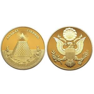 Great Seal United States Commemorative Gold Coin - Bricks Masons