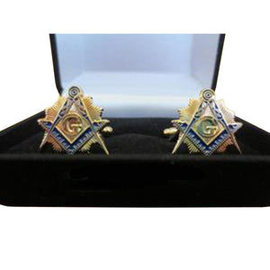 Masonic Cufflinks with Velvet Boxed - Bricks Masons