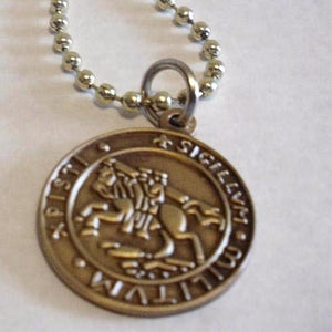 SIGILLUM MILITUM XPISTI Knights Templar Necklace - Bricks Masons