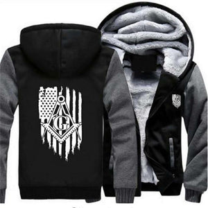 American Flag Masonic Hoodies [Multiple Colors] - Bricks Masons