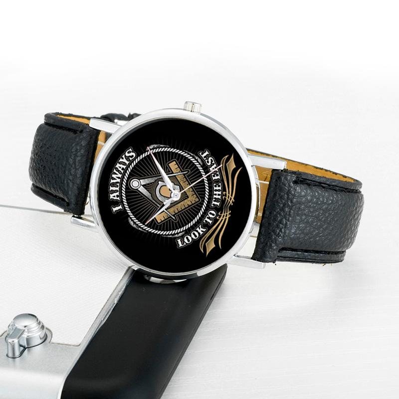 Look to the East Masonic Wristwatch [Multiple Colors] - Bricks Masons