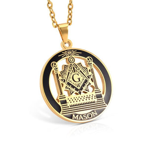 MASON Pillars Lodge Masonic Pendant Necklace - Bricks Masons