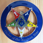 ORDER OF EASTERN STAR Square & Compass Car Emblem - Bricks Masons