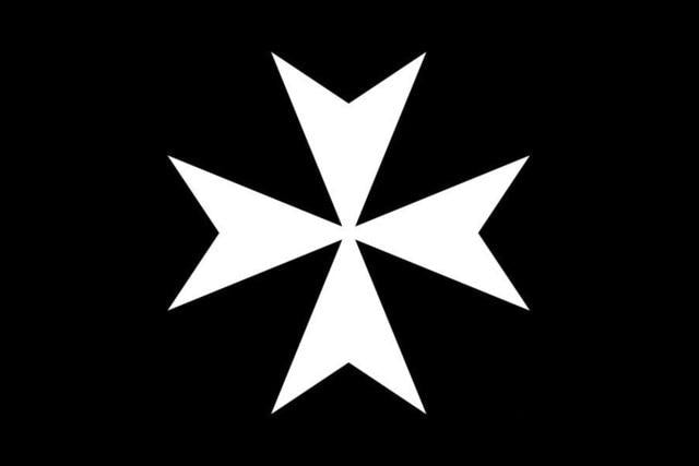 Knights of Malta Masonic Flag Black - Bricks Masons