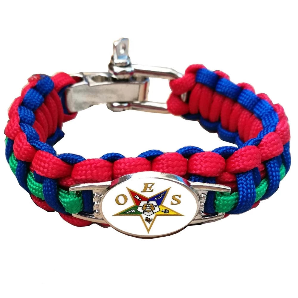 Paracord OES Order of the Eastern Star Bracelet Adjustable - Bricks Masons