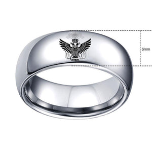 33 Degree Double Eagle Crown Masonic Band Ring - Bricks Masons