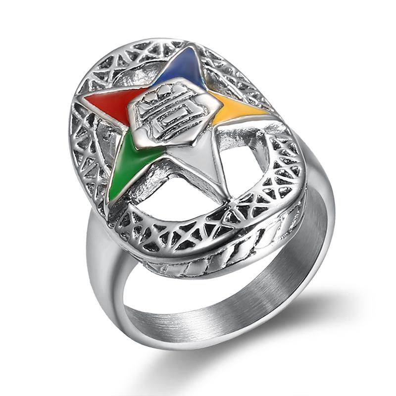 Silver Order of the Eastern Star Rings - Bricks Masons