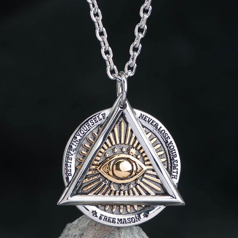 Eye of Providence Freemason Masonic Pendant Necklace - Bricks Masons