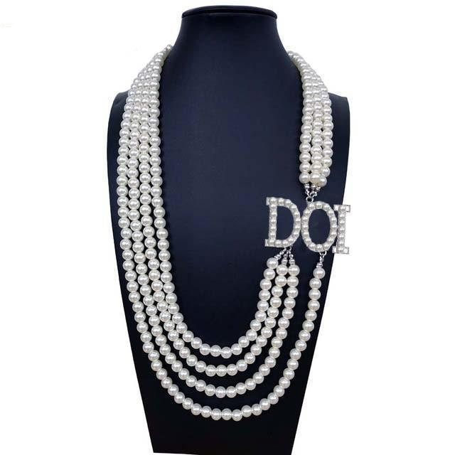 Daughters of Isis DOI Pearl  Necklace - Bricks Masons