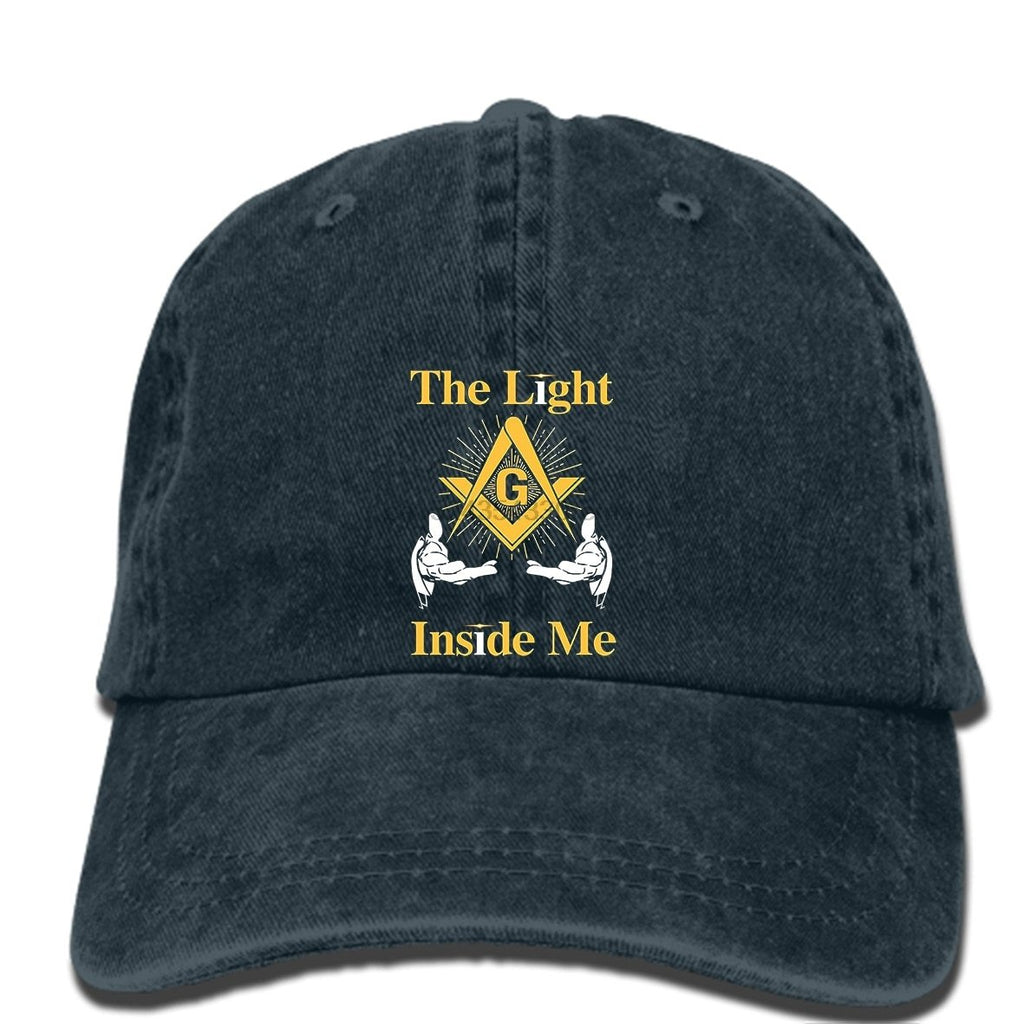 The Light Inside Me Masonic Symbol Adjustable Baseball Cap - Bricks Masons