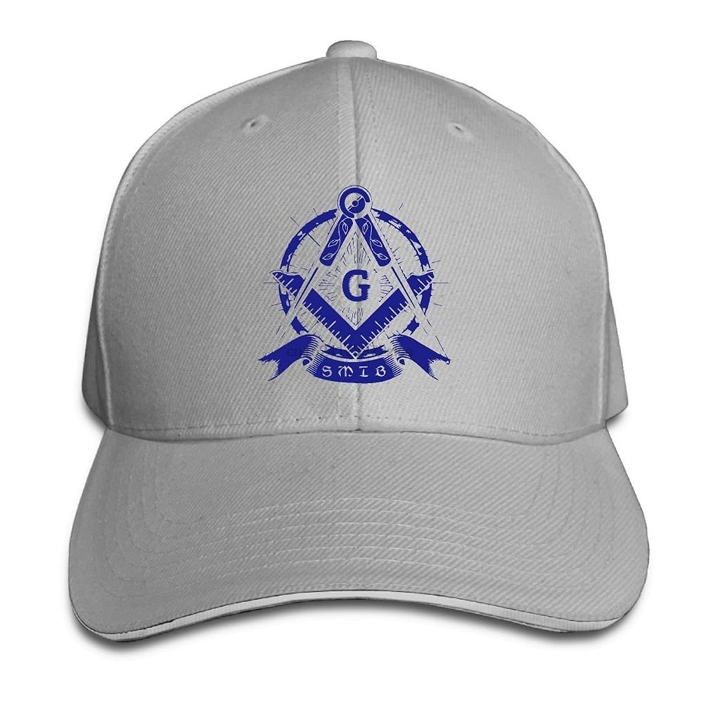 Square Compass G Blue Masonic Symbol Adjustable Baseball Cap - Bricks Masons