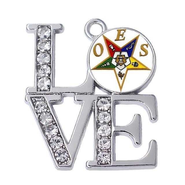 LOVE Order of Eastern Star OES Charms Pendants - Bricks Masons