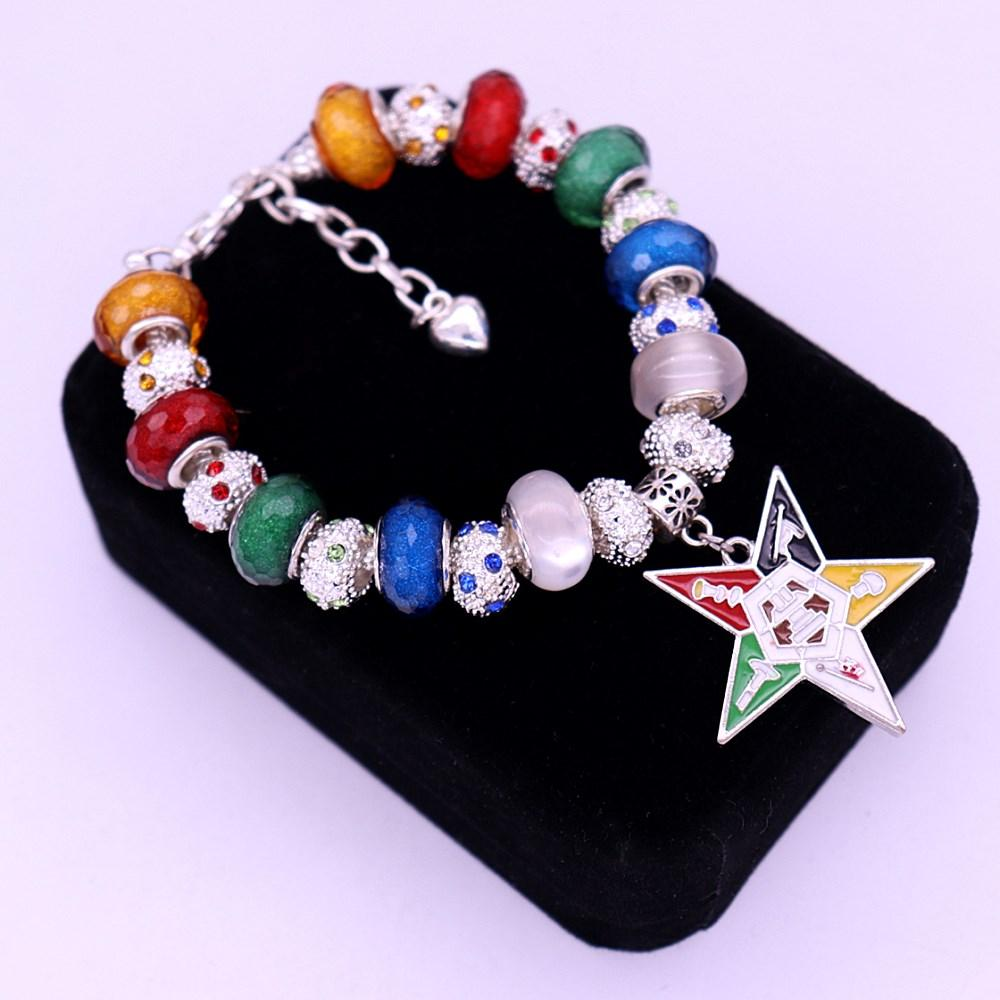 New Design Order of Eastern Star OES Beads Masonic Bracelet - Bricks Masons