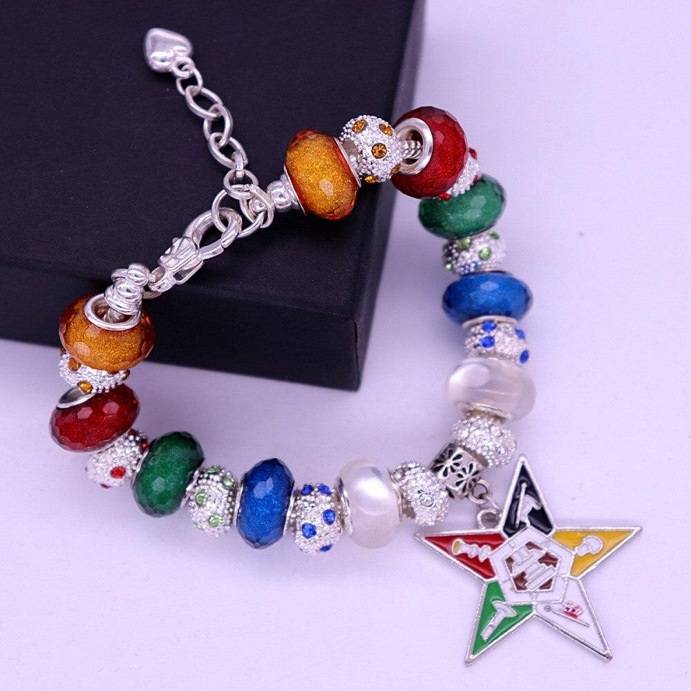 Order of the Eastern Star OES Bling Bracelet Silver-New!