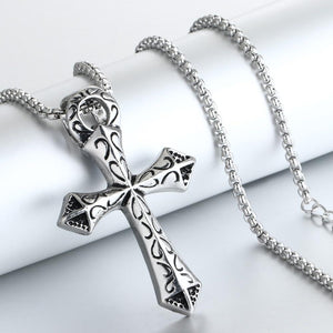 Medieval Pattern Cross Necklace