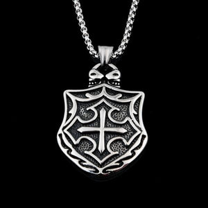 Medieval Cross Shield Knights Templar Necklace - Bricks Masons