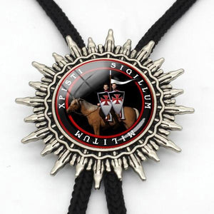 Variety of Knights Templar Cowboy Bolo Ties [Multiple Variations] - Bricks Masons