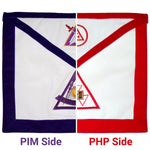 PHP / PIM York Rite Apron Reversible Double-Sided - Bricks Masons