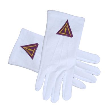 ROYAL SELECT - YORK RITE TROWEL Masonic Gloves - Bricks Masons