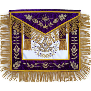 Masonic Grand Lodge Past Master Apron Bullion Hand Embroidered - Bricks Masons