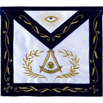 Masonic Blue Lodge Past Master Apron Bullion Hand Embroidered - Bricks Masons