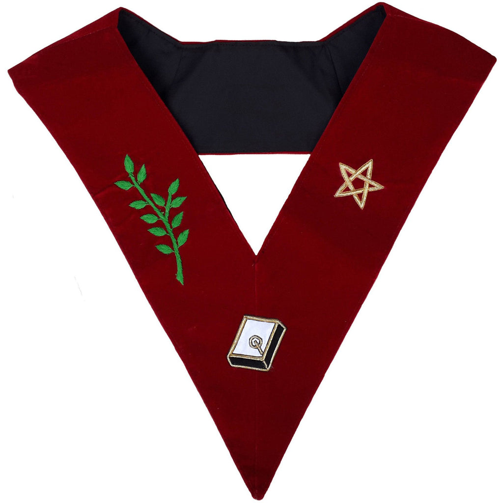 Masonic Scottish Rite 14th Degree Lodge Of Perfection Embroidered Collar