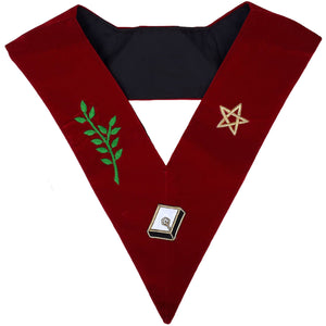 Masonic Scottish Rite 14th Degree Lodge Of Perfection Embroidered Collar - Bricks Masons