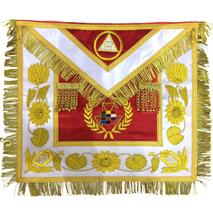 Past High Priest Apron, Royal Arch Apron Hand Embroidred PHP Apron - Bricks Masons