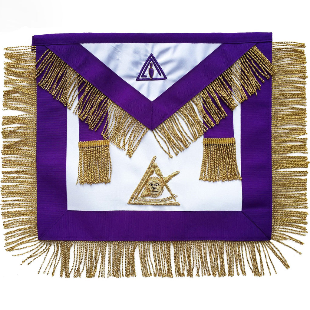 Masonic Council Past Illustrious Master Apron Hand Embroidered - Bricks Masons