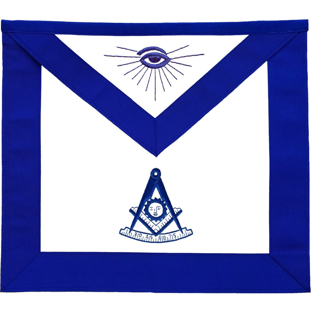 Masonic Blue Lodge Past Master Apron - Bricks Masons