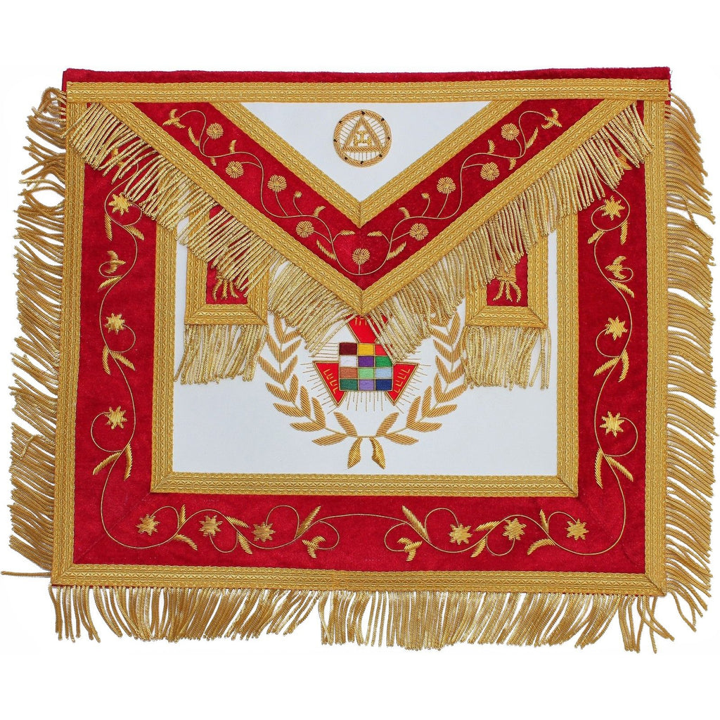 Hand Embroidered Masonic Royal Arch PHP Apron - Bricks Masons