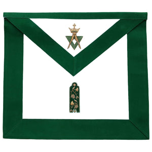 Allied Masonic Degree AMD Hand Embroidered Officer Apron - Junior - Bricks Masons