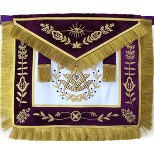 Masonic Grand Lodge Past Master Apron Hand Embroidered - Bricks Masons