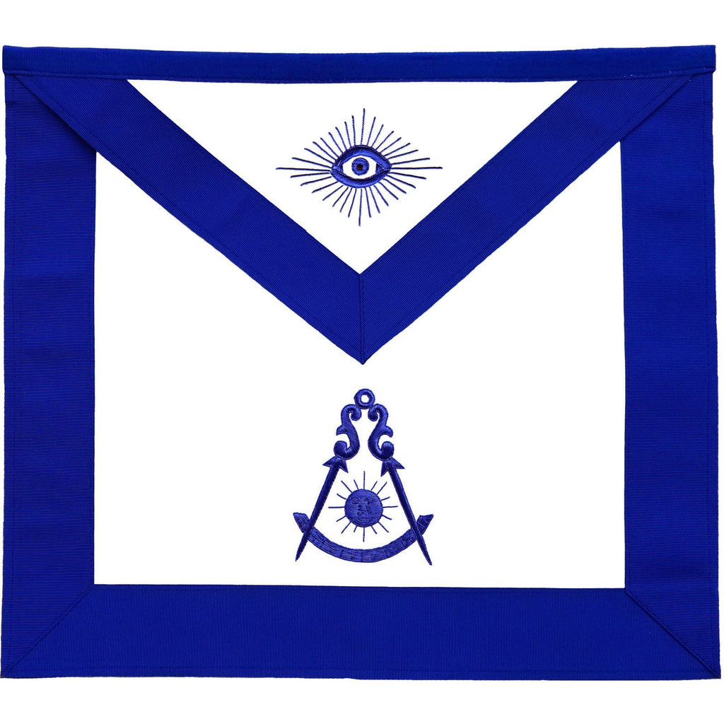 Masonic Past Master Blue Lodge Apron - Bricks Masons