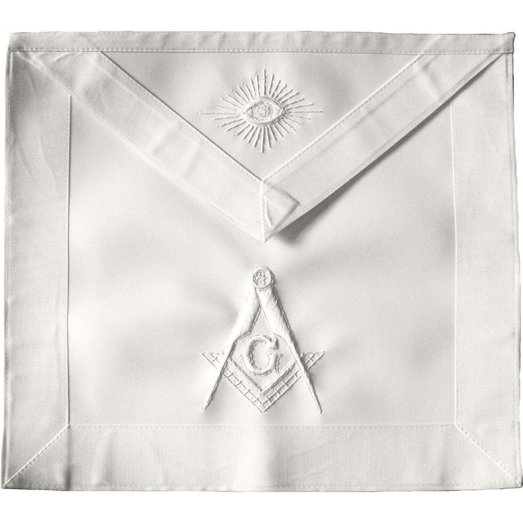 Masonic Master Mason Apron All White