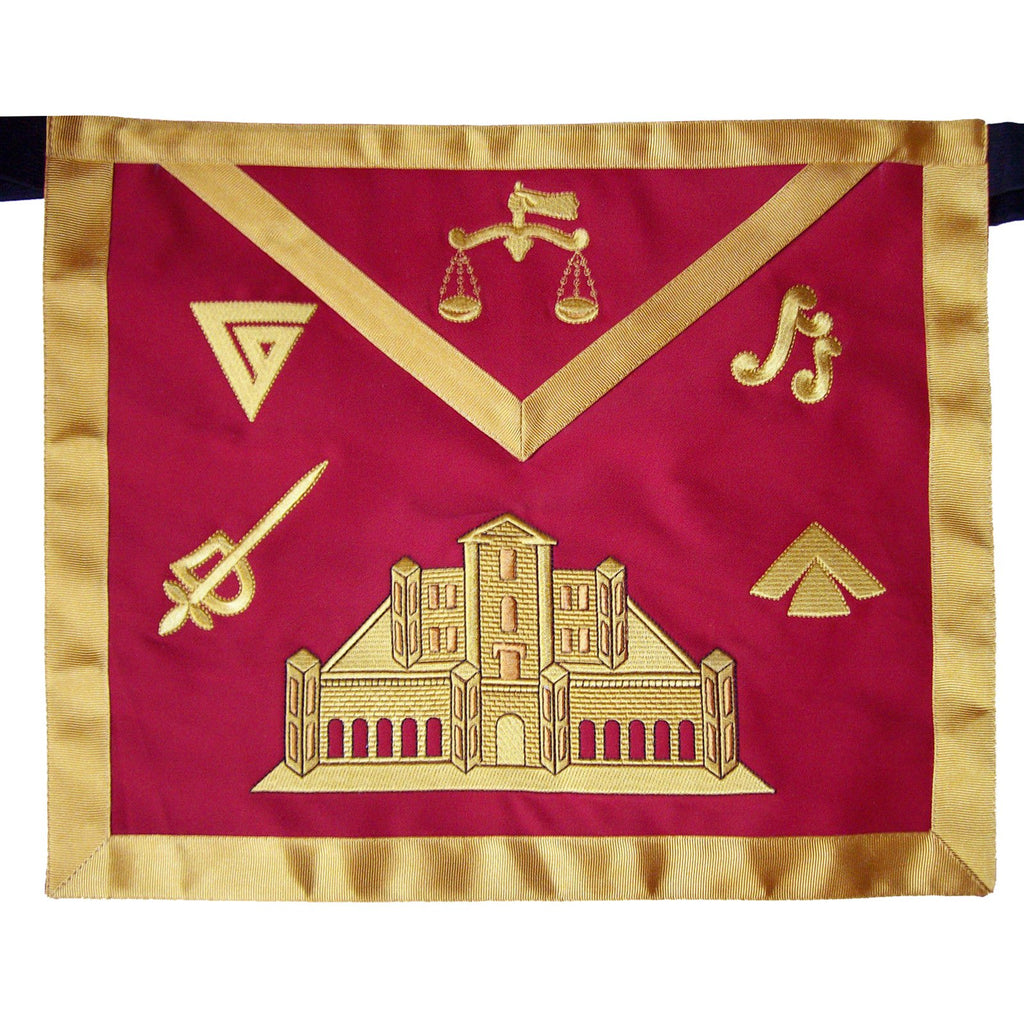 Masonic Fraternal Scottish Rite 16th Degree Prince of Jerusalem Regalia Apron - Bricks Masons