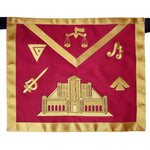 Masonic Fraternal Scottish Rite 16th Degree Prince of Jerusalem Regalia Apron