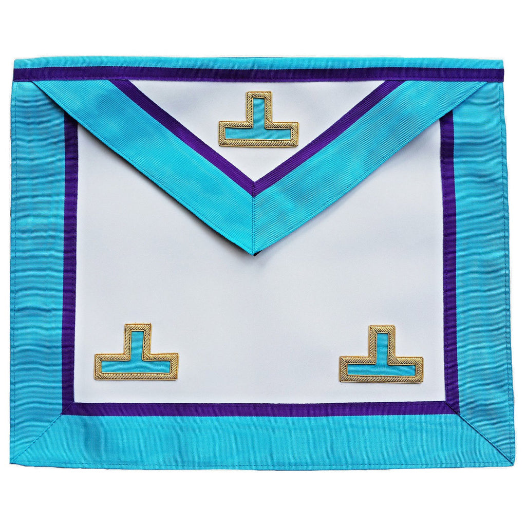Masonic Memphis Misraim Rite Worshipful Master Apron Hand Embroidered - Bricks Masons