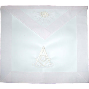 Masonic Past Master Apron All White - Bricks Masons