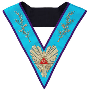 Masonic Memphis Misraim Worshipful Master Collar Hand Embroidered - Bricks Masons