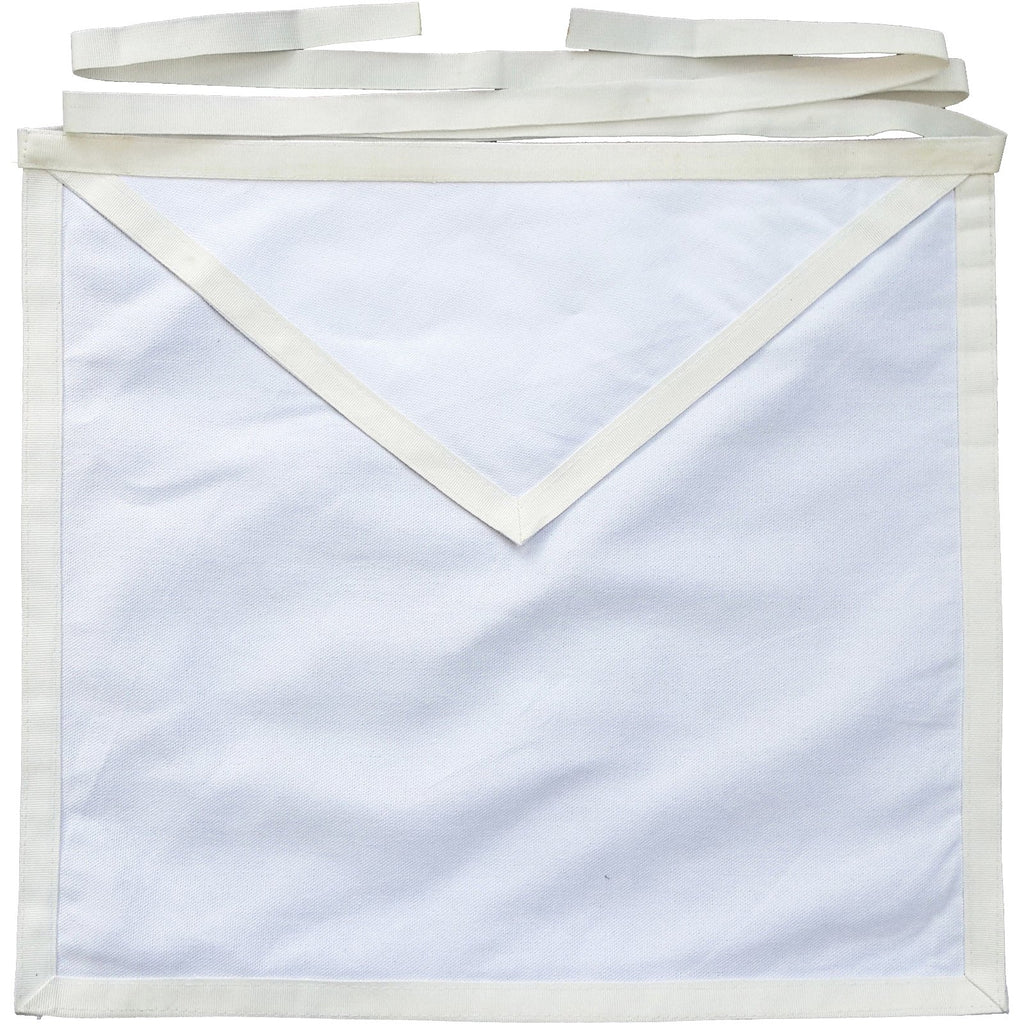 Masonic Cotton Duck Cloth Entered Apprentice / Candidate Apron - Bricks Masons