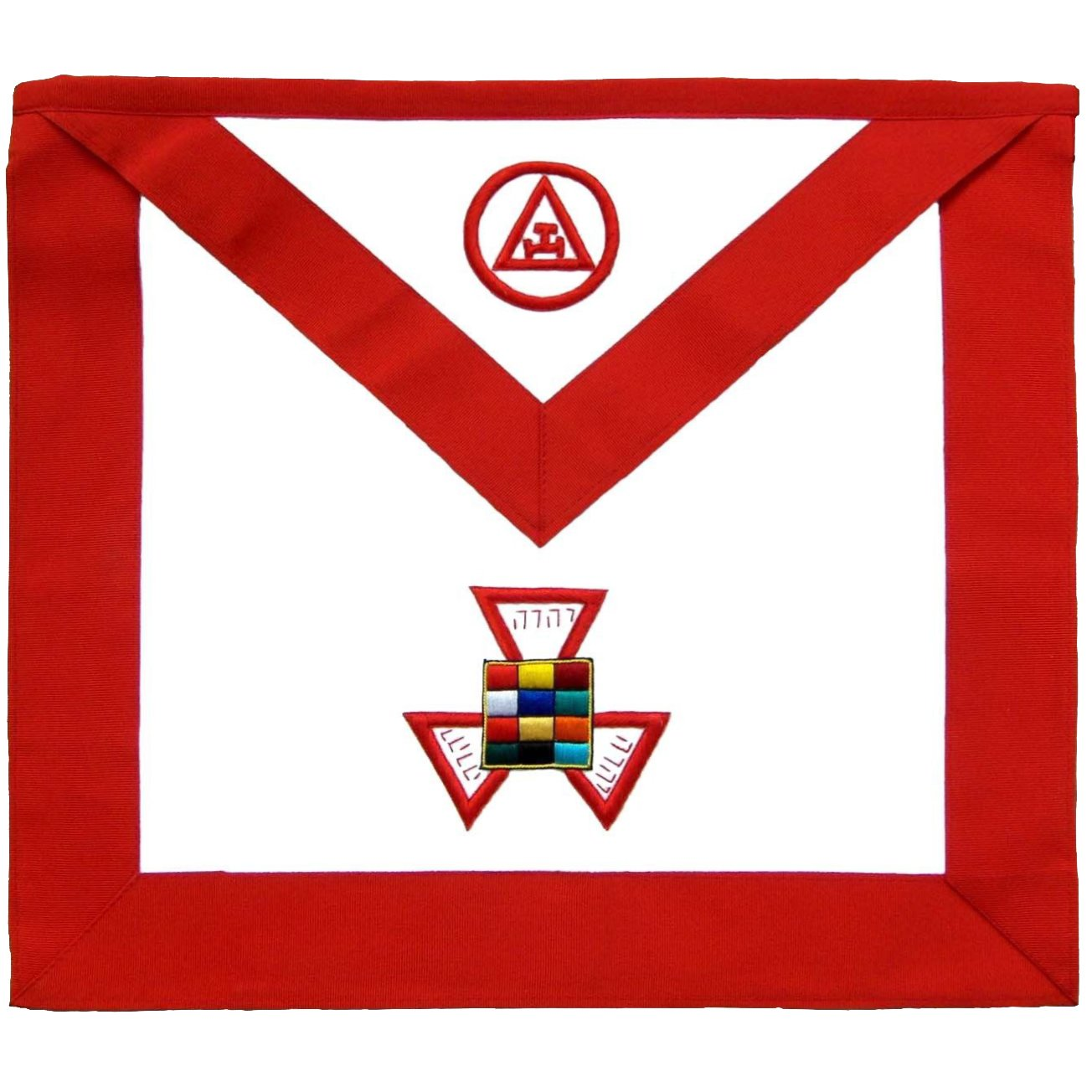 Masonic Royal Arch Past High Priest PHP Hand Embroidered Apron - Bricks Masons