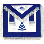 Masonic Past Master Apron Blue With White Fringe - Bricks Masons