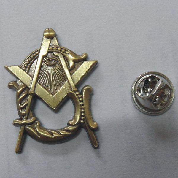 Antique Style G Masonic Lapel Pin - Bricks Masons