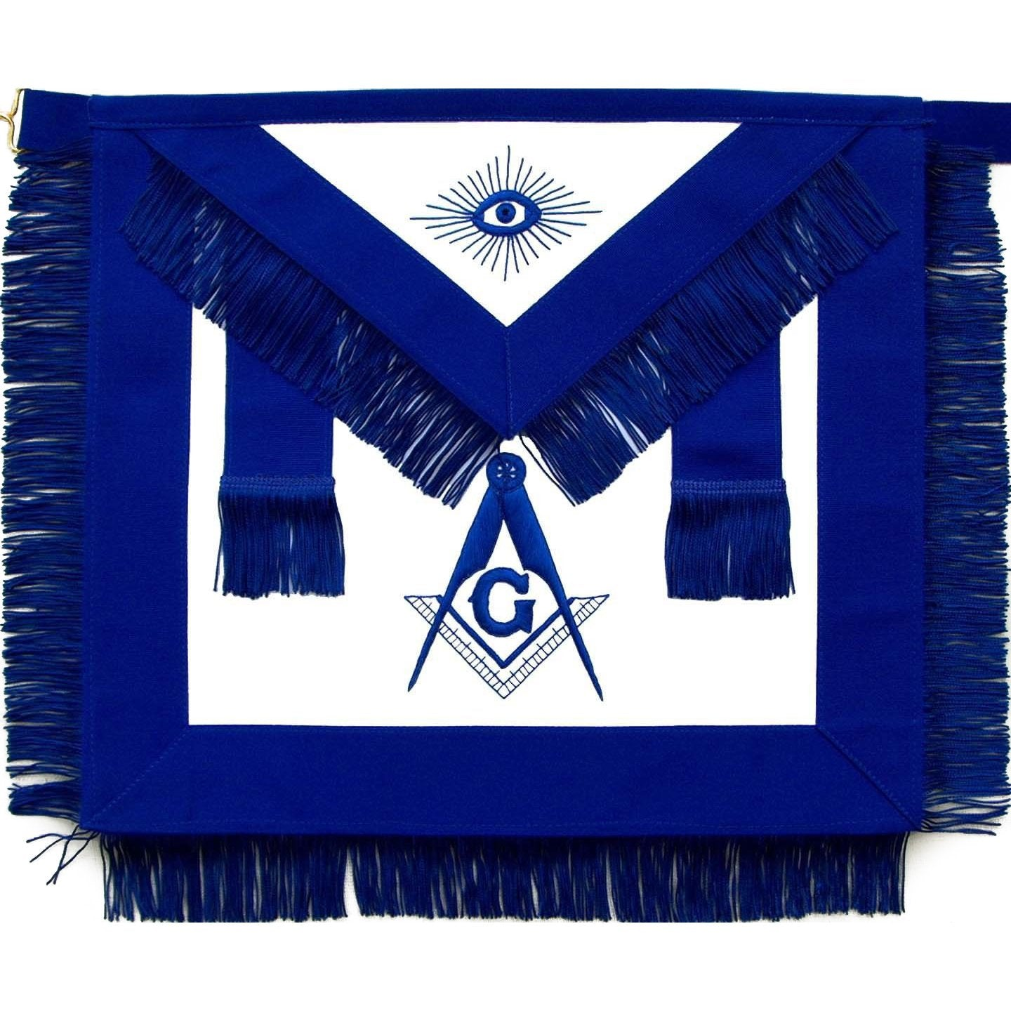 Masonic Master Mason Blue Lodge Apron With Fringe - Bricks Masons