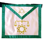 Masonic Fraternal Scottish Rite 8th Degree Intendant of the Building Regalia Apron - Bricks Masons