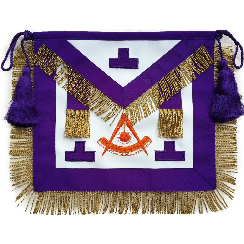 Masonic Past Master Apron Puerto Rico Hand Embroidered