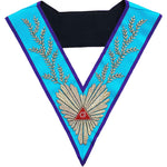 Masonic Memphis Misraim Worshipful Master Hand Embroidered Collar