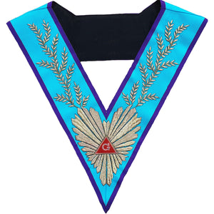 Masonic Memphis Misraim Worshipful Master Hand Embroidered Collar - Bricks Masons